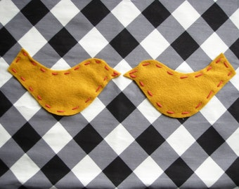 LOVE BIRDS baby blanket  in 'Mustard'