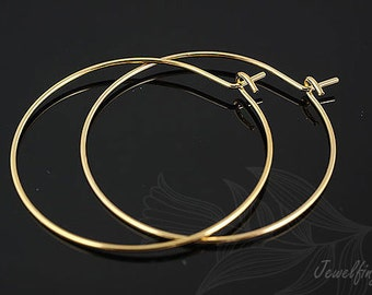 B102-60 pairs-Gold plated Hoop earring