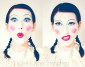 9 x 12 Fine Art Color Photograph - Wall Art Print - Home Decor - Self Portrait - Clown Makeup - Faces - Moods - Silly - Funny
