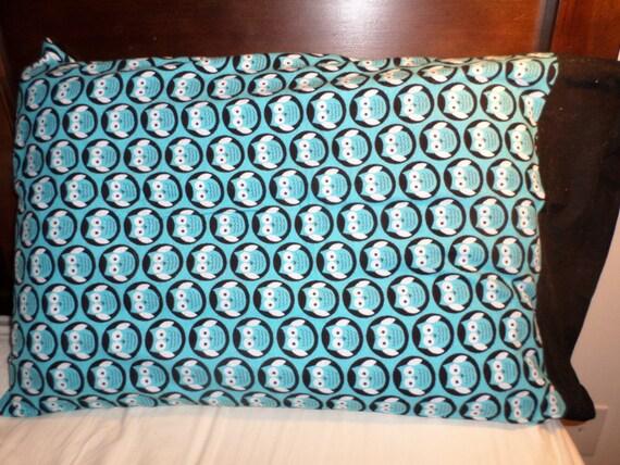 standard size owl pattern pillow case. Black Bedroom Furniture Sets. Home Design Ideas