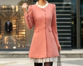 Women Pink OL Wool coat Cashmere winter coat Hood cloak Hoodie cape Hooded Cape/clothing /jacket/dress - AngelCity2012