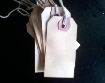 Primitive Rustic Farmhouse Hang tag Gift tag DIY Craft supply Blank 100 tags small manilla