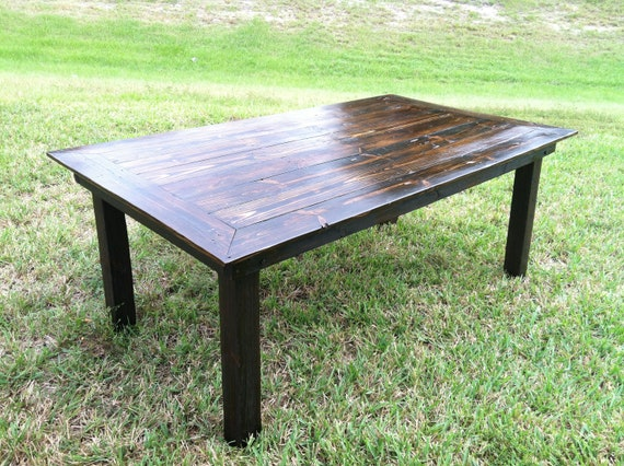 Handmade reclaimed wood dining table for Unique wood dining room tables