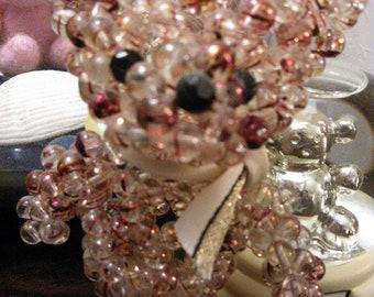 Conffetti glass bead bear