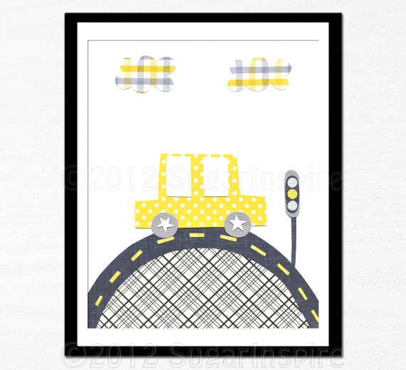 Baby room decor children room decor yellow and gray for 007 room decor