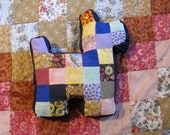 Patchwork Dog Throw Pillow  or Toy for Kids, Dogs or Decore Stuffed Scottie