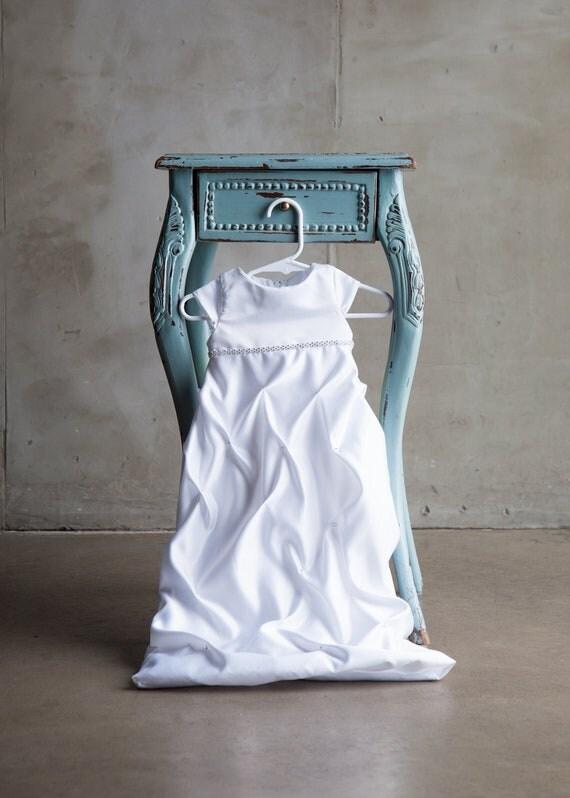 Blessing dress Satin baby girl dress infant formal gown