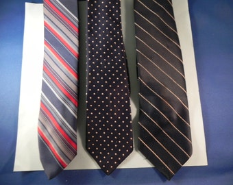 Vintage Mens Neckties  Three From the 1960's