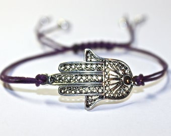 Hamsa Wish Bracelet - Hemsa bracelet - hamsa bracelet - custom pick your own color