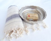 Traditional Turkish Towel-Ottoman Peshtemal towel-Grey-Peshtemal-sauna,spa,fitness,
