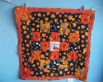 Halloween Scrappy Squares Baby Quilt