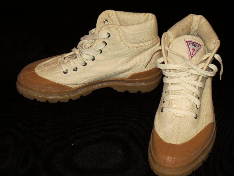 Vintage Men's Size 11 Guess Canvas Ankle Boots