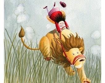 Children's Art - Signed, Limited Edition giclée print. - ' Morning Walk'