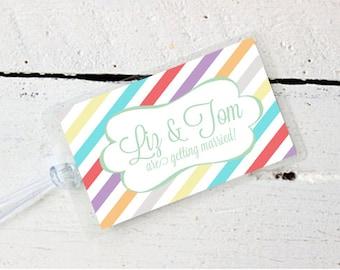 Wedding Luggage Tag Custom Laminated- Destination Wedding