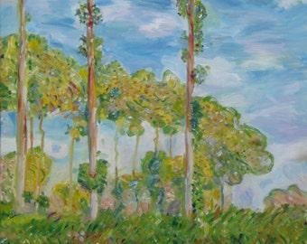 After Monet's Poplars, Spring
