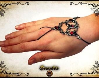 Medieval Asmodea bracelet jewelry - Handmade medieval necklace with swarovski