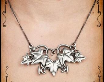 Medieval leaf Ostara necklace jewelry - Handmade jewelry