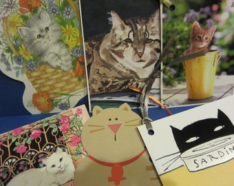 more CATS 6-pack Upcycled Gift Tags