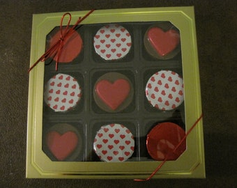 Heart Shaped Chocolated Covered Oreos