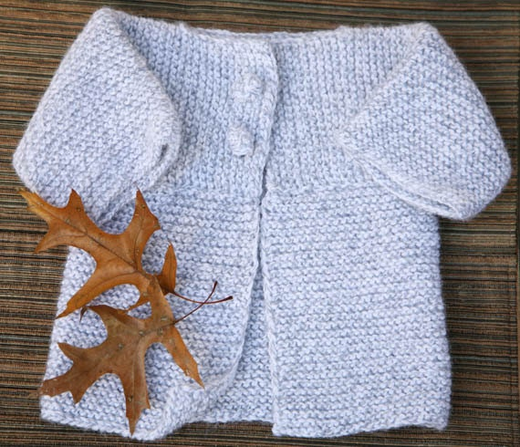 PATTERN knitting baby boy or girl sweater / cardigan with