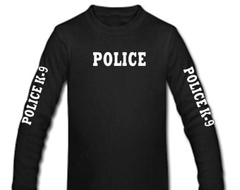 Police K-9 T-shirt 4 sided  Police or Sheriff