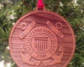 USCG Wooden Ornament