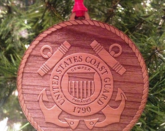 USCG Wooden Ornament