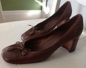 Prada Leather Chunky Heels