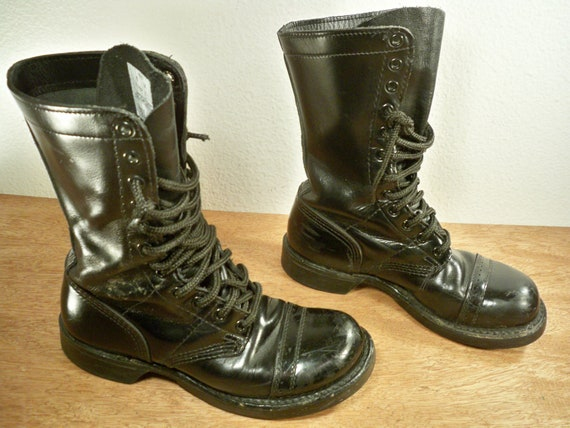 vintage corcoran black leather combat s non steel by