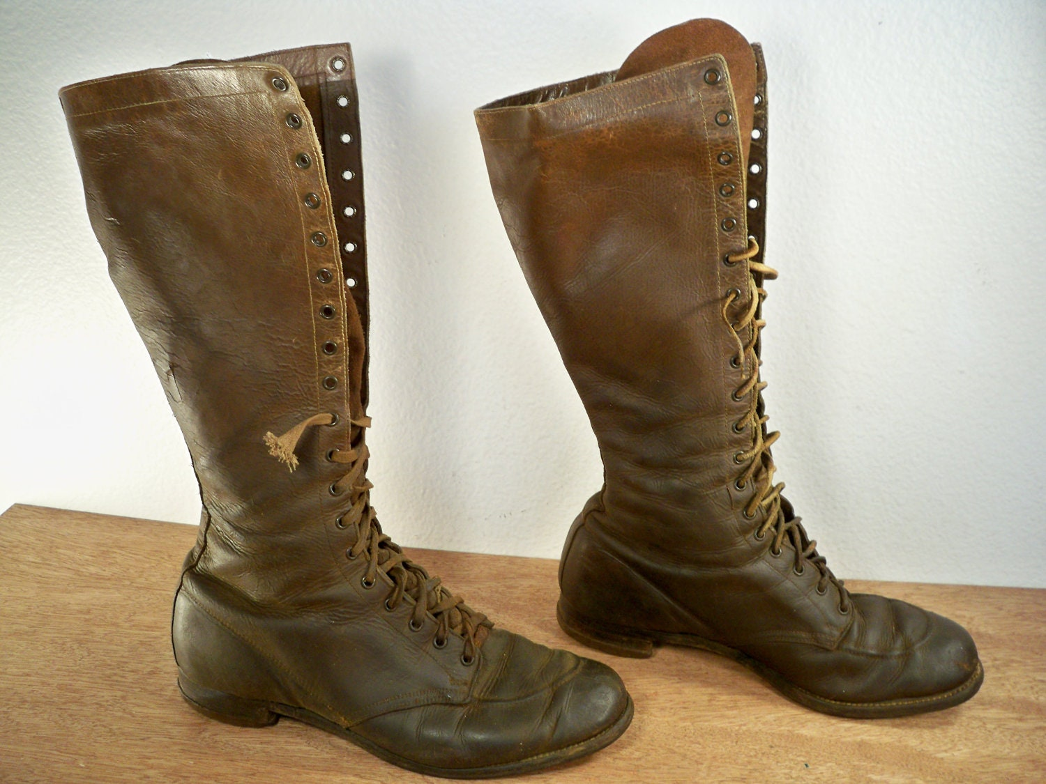 Mens Tall Lace Up Boots