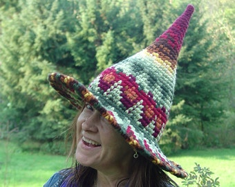 Witch Hat Harvest Design, Custom Hand Crocheted