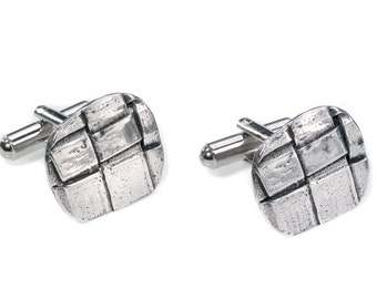 Pewter Cuff Links - Nathan (TRA Collection)