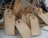 "Christmas in July SALE!! 100 Primitive Stained Hang Tags, sized 2 3/4"" x 1 3/8"", Vintage tags, Antique tags, Escort Cards"