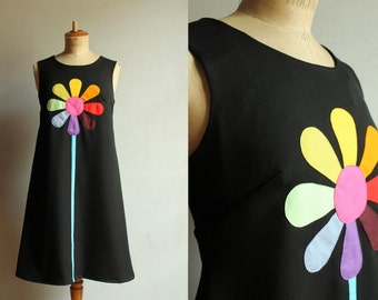 Black Daisy dress