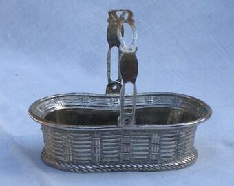Silver Basket - Japan - Silver Plate - Vintage