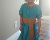 Merida Brave Dress Costume.  Wash n' Wear.  Size 5.  Custom order for Karlie C.