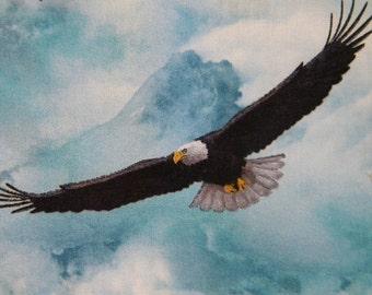 North American Wildlife--bald eagle fabric--by the yard--Elizabeth's Studio