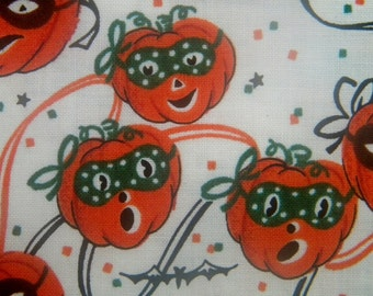 Trick or Treat Parade pumpkins fabric--RJR--by the yard
