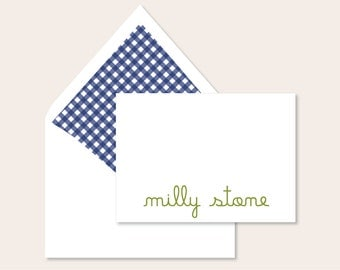 Personalized Stationery - Gingham