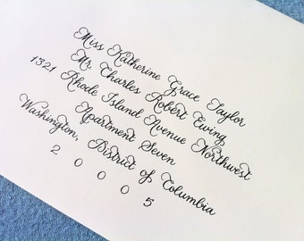 Custom Wedding Invitation Calligraphy : 'Leigh Anna' style