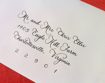 Custom Wedding Invitation Calligraphy  :  'Megan' style