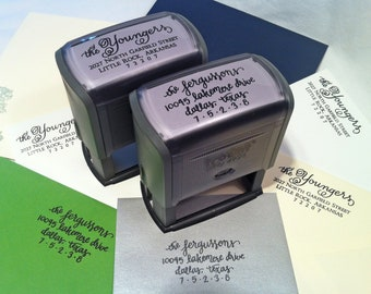 Calligraphy Return Address Stamp (self-inking)