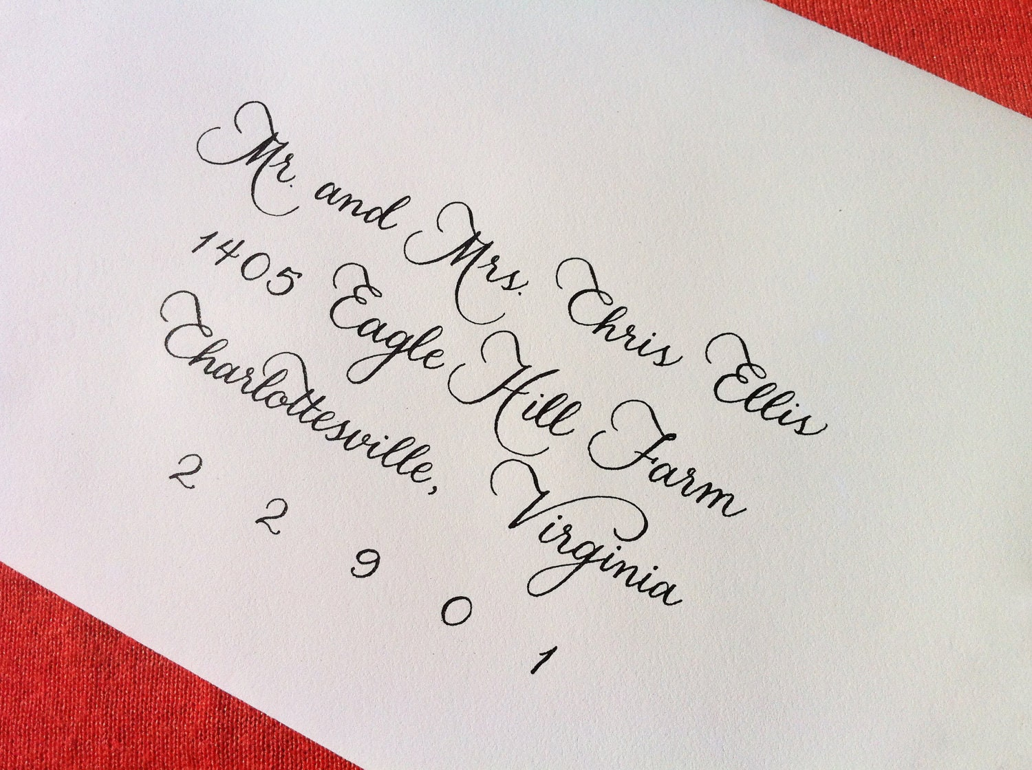 Custom Wedding Invitation Calligraphy Megan