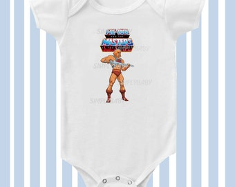 He Man Baby Boy  Bodysuit  by SimplyBaby