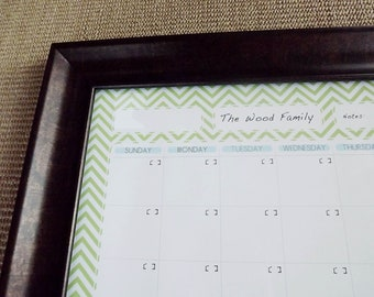 Custom Family Planning Dry Erase Calendar - Digital File (for a 18x24 standard frame)