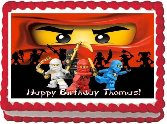 Items similar to NINJAGO Edible Image Cake Topper for 1/4 ...