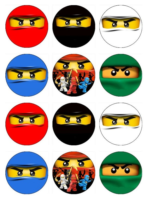 Lego Ninjago Cupcake Toppers | www.imgkid.com - The Image Kid Has It!