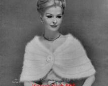 Stoles Capes Shorties to Knit or Crochet, Bernhard Ulmann Pattern Book Vol.35, PDF