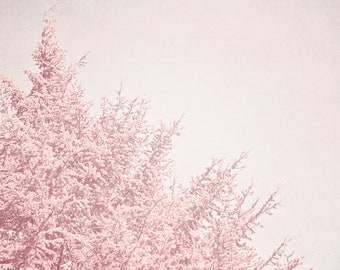 Lovely Pink Tree - Fine Art Photography-  Tree, Baby Girl,Nature, Pink, Blossoms, Spring, Floral, Dreamy Wall Decor - Rosy Tree