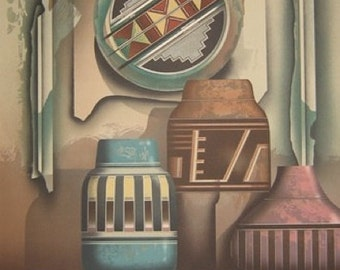 """James Carter """"Shield"""" Original Lithograph"""